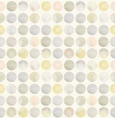 Polka Dots in Ivory - wallpaper by Kreme