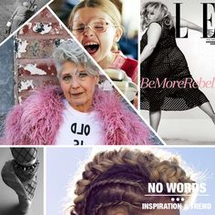 different inspiration  (fashion film hair) chosen from our #digitalteam