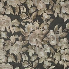 Metallic Gold Floral Embroidered Tulle