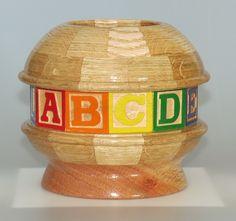 Oak & Alphabet blocks