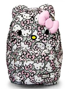 37e4cbb802 Hello Kitty Pink Grey White All Over Print Backpack - Backpacks - Hello  Kitty - Brands