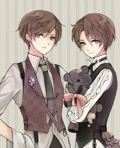 North and South Italy Animal Art, Animal Boys Twin, Hetalia Italy, Animal Twin Boys, Cute Animal Boys, Animeart 3, Italy Brother, Animal Boys Victorian, South Italy
