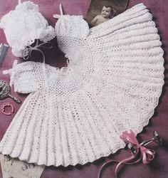 Baby Dress Crochet Pattern with Matching Bonnet