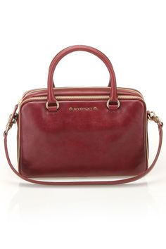 Givenchy Zip Detail Bag In Burgundy -