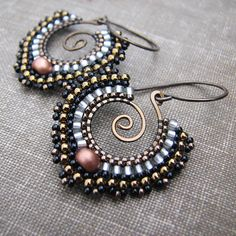 Bollywood Bronze Earrings   Flickr - Photo Sharing!