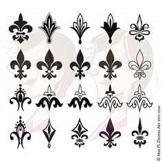 Shop for on Etsy, the place to express your creativity through the buying and selling of handmade and vintage goods. Art Clipart, Stencil Art, Stencils, Tattoo Fleur, Geniale Tattoos, Clip Art, Emblem, Filigree Design, Small Tattoos