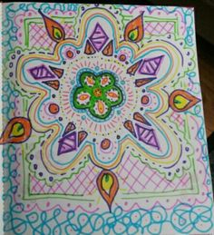 No rules, no plan. Just go where your flow brings you.  #artjournal #newentry #womanunleashedretreat #florabowley #fun #loveit #mandala