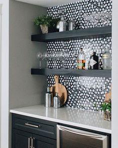 Modern Farmhouse – Julie Howard Home Design The Tile Shop, White Tiles, Quartz Countertops, House Goals, Pure White, Modern Farmhouse, Floating Shelves, Kitchen Remodel, Kitchen Cabinets