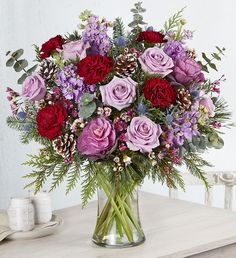 Shop winter flowers & plant gifts from to brighten even the coldest winter day. Send a winter bouquet delivery for the perfect winter gift! Beautiful Flowers Images, Flower Images, Bouquet Delivery, Flower Delivery, Christmas Flowers, Winter Flowers, 800 Flowers, Winter Bouquet, Sympathy Flowers