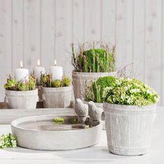 Betónový kvetináč Kista - FLORATEC - Veľkoobchod - aranžérske, floristické potreby, dekoračné predmety!
