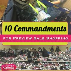 Ready to shop your favorite kids sale? Here are 10 tips for helping you maximize your presale shopping at your favorite kids consignment sale event!