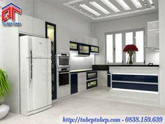Tủ bếp Acrylic đẹp cho phòng bếp hiện đại MTB052
