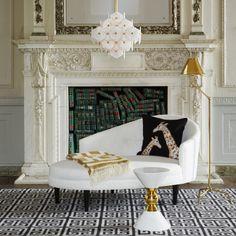 Hayworth Settee - Modern Home Decor, Luxury Gifts & Mid Century Modern Furniture | Jonathan Adler