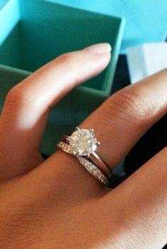 15 Most Loved Tiffany Engagement Rings ❤️ tiffany engagement rings simple round cut diamond wedding set ❤️ See more: http://www.weddingforward.com/tiffany-engagement-rings/ #wedding #bride #engagementrings #toffanyengagem