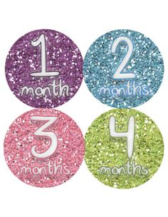Cute for Kyleigh! Baby Month Stickers Baby Monthly Stickers Girl by PurplePossom, $9.00