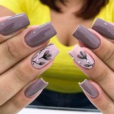 23 Super Ideas For Nails Sencillas Black Fancy Nails, Diy Nails, Cute Nails, Spring Nail Art, Spring Nails, Summer Nails, Stylish Nails, Trendy Nails, Nagel Hacks