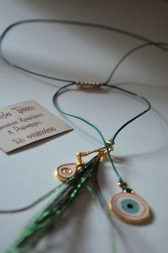 ΜΑΚΡΑΜΕ ΠΛΕΞΗ,ΣΜΑΛΤΑ ΚΑΙ ΦΥΣΙΚΑ ΦΤΕΡΑ ΠΑΓΩΝΙΟΥ Hand Art, Handmade Accessories, Washer Necklace, Projects To Try, Bling Bling, Jewellery, Bracelet, Jewelery, Bangle