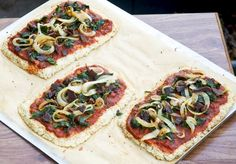 Cauliflower Crust Bacon Pizza I'm trying this today!  Sounds great! With my own topping ideas!