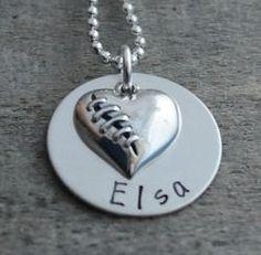 Mended Heart Personalized Necklace - Hand Stamped Gift