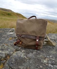 Waxed canvas backpack by WoolyBison on etsy $148