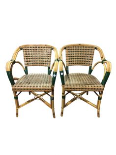 A Set Of Four Bamboo Cafe Chairs | LH Exchange