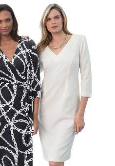 Shift Dress in Ponté Knit | Plus Size Work Dresses | Jessica London