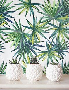 Fond d cran tropical fond d cran amovible papier peint for Decor papier peint mural
