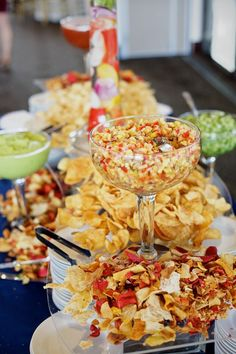 Chips and dips Bar and or nachos bar