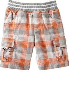$14.94 regular price Jersey-Waist Plaid Shorts for Baby | Old Navy