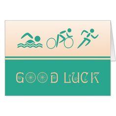 Good luck triathlon sport card
