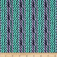 Designed by Amy Butler for Free Spirit, this cotton print is perfect for quilting, apparel and home decor accents. Colors include navy blue, mint, teal and lavender.