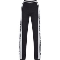 Knit Logo Jacquard Leggings | Moda Operandi (2.365 DKK) ❤ liked on Polyvore featuring pants, leggings, bottoms, jeans, black, jeans/pants, jacquard pants, high-waist trousers, knit leggings and knit pants