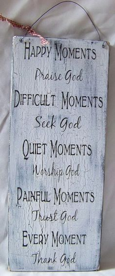 Happy Moments Praise God Handmade Distressed Wood by primsnposies, $25.00