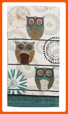 Kay Dee Designs R3440 Spice Road Owl Terry Towel - Fun stuff and gift ideas (*Amazon Partner-Link)