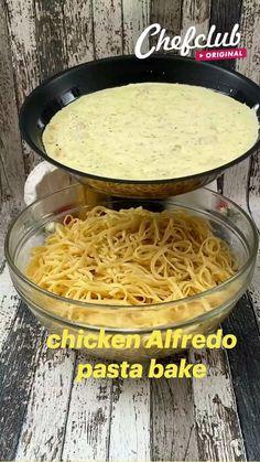 Pasta Recipes, Chicken Recipes, Cooking Recipes, Healthy Recipes, Vegetable Recipes, Alfredo Recipe, Alfredo Sauce, Homemade Alfredo, Alfredo Chicken Pasta