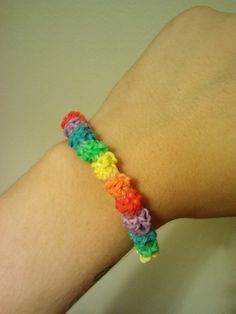 Check out this item in my Etsy shop https://www.etsy.com/listing/199388795/rainbow-gumdrop-rubber-band-bracelet