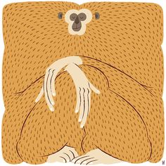 animal illustration Gibbon on Behance Art And Illustration, Character Illustration, Graphic Design Illustration, Animal Illustrations, Illustration Children, Rabbit Illustration, Coffee Illustration, People Illustration, Illustrations Posters