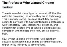 It's important to never overestimate the technologically disinclined. #funny #professor #technology #IT #story