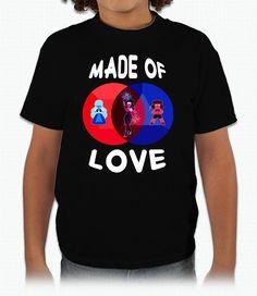 "Garnet, ""Made of Love"" – Youth T-Shirt  #stevenuniverse #steven #universe #crystalgems #garnet #amethyst #pearl #ruby #sapphire"