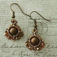 Linda's Crafty Inspirations: Indu's Bezel Earrings