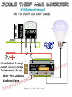 joule thief 220v AC mini inverter