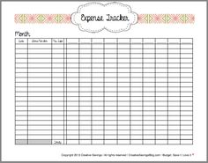 Organize your receipts with this FREE Expense Tracker printable! Also includes link to an Excel file.