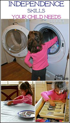 Independence skills your child needs. Think your child is too young to help around the house? Think again.