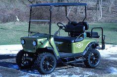 Refurbished 2003 txt custom Jeep front end  5″ lift kit golf cart