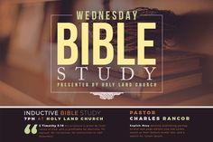 Bible Study Flyer Template by SeraphimChris on Creative Market