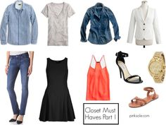 Closet Must Haves Part 1 | 20 Basics :: 20 Outfits