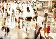 Inside the Louvre - Paris, France - via BeersandBeans.com