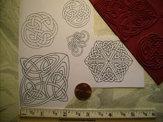 5 celtic knots rope  rubber stamp un-mounted by JimsRubberstamps