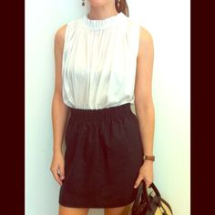 Elijah Bubble Top in White White cotton ruched top. Super cute tucked into a high waist skirt. Elijah Tops