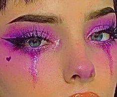 Indie Makeup, Edgy Makeup, Makeup Eye Looks, Eye Makeup Art, Crazy Makeup, Cute Makeup, Pretty Makeup, Eyeshadow Makeup, Makeup Inspo